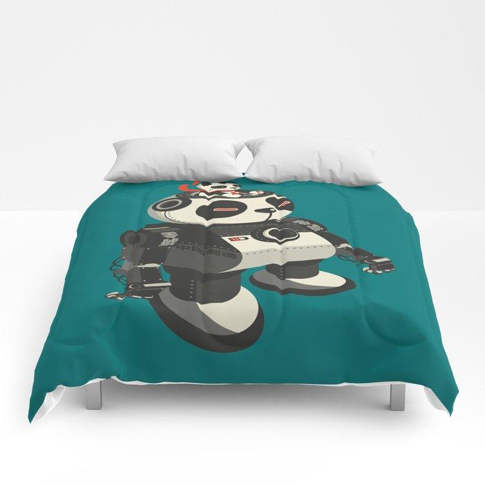 Mecha-Panda Comforters