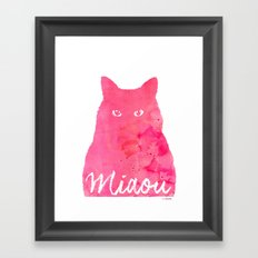 MIAOU rose Framed Art Print
