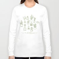 cactus Long Sleeve T-shirts featuring Cactus  by Chee Sim
