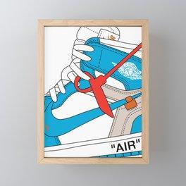 Jordan 1  Of White Poster Framed Mini Art Print