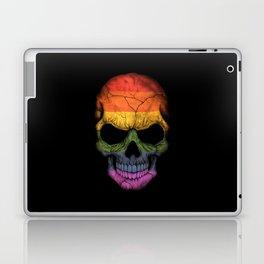 Dark Skull with Gay Pride Rainbow Flag Laptop & iPad Skin