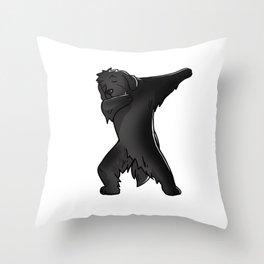 Funny Dabbing Newfoundland Dog Dab Dance Throw Pillow