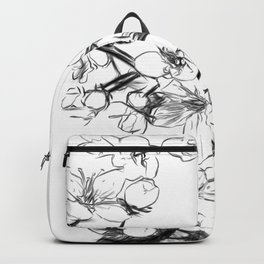 Cherry Blossoms Minimal Drawing Backpack