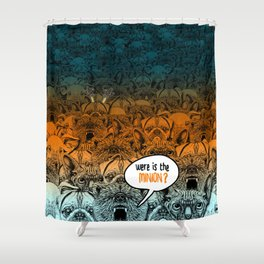 Were is the minion ? Shower Curtain