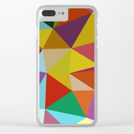 Geometric Abstract Art Pattern Ten Clear iPhone Case