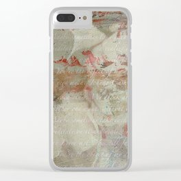 Peony Clear iPhone Case