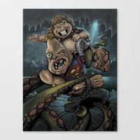 goonies Canvas Prints featuring The Goonies by flylanddesigns
