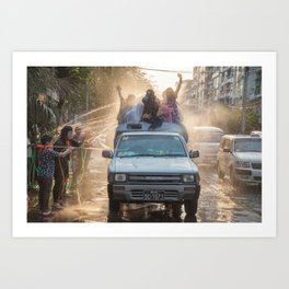 celebrating thingyan | myanmar Art Print