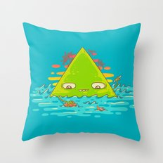 The Bermuda Triangle Throw Pillow