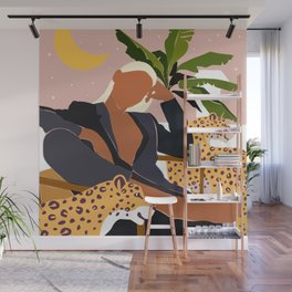 Girl Boss #illustration #painting Wall Mural