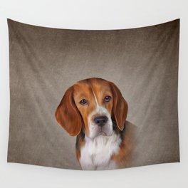 Drawing Dog Beagle 3 Wall Tapestry