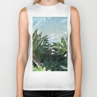 palm Biker Tanks featuring Palm by Danny T