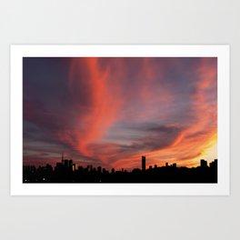 Sunset on September 18, 2016. VI Art Print