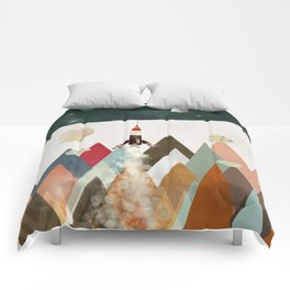 living on the moon Comforters