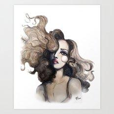 Curl // Fashion Illustration Art Print