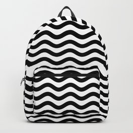 Waves (Black & White Pattern) Backpack