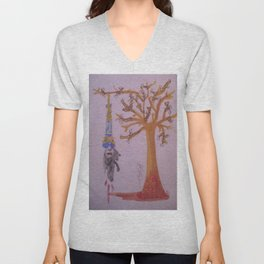 I Was Hung From A Tree Made Of Bones Of The Weak. The Branches The Bones Of The Liars The Thieves. Unisex V-Neck