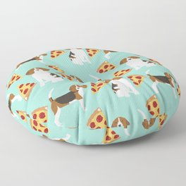 beagle pizza dog lover pet gifts cute beagles pure breeds Floor Pillow