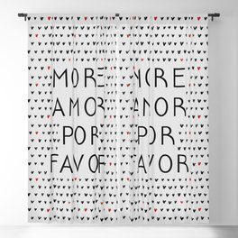 More Amor Black & Red, Heart Pattern Blackout Curtain
