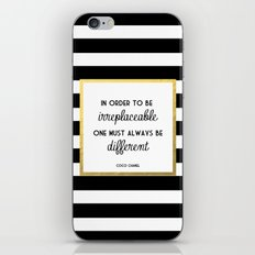 Coco Gold Irreplaceable Fashion Quote iPhone & iPod Skin