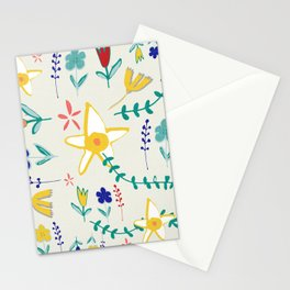 Floral The Tortoise and the Hare is one of Aesop Fables beige Stationery Cards