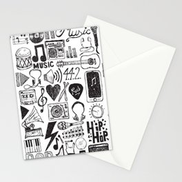 Music Doodles Stationery Cards