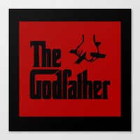 the godfather Canvas Prints featuring The Godfather by SwanniePhotoArt