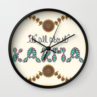 karma Wall Clocks featuring Karma by famenxt