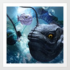 The frogfish  Art Print
