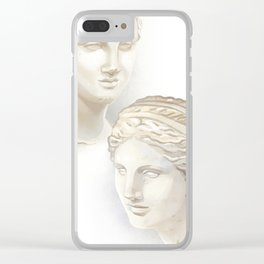 Dueling Aphrodites Clear iPhone Case