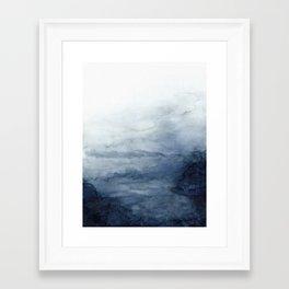 Indigo Abstract Painting | No.2 Framed Art Print