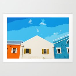 Bridgetown Barbados (Art Version) Art Print