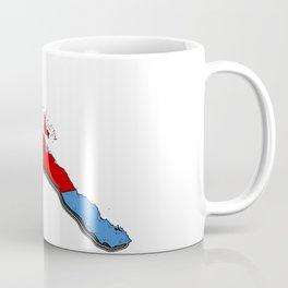 Eritrea Map with Eritrean Flag Coffee Mug