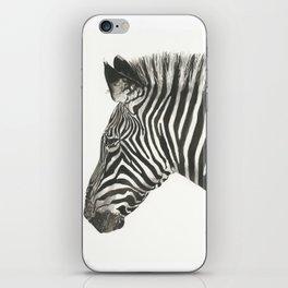 Zebra in Watercolor iPhone Skin