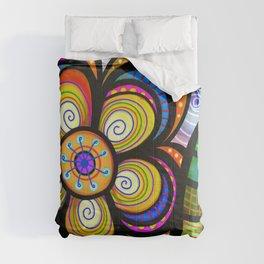 feuilles et fleurs motif 5 Comforters