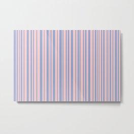 Rose Quartz and Serenity stripes Metal Print