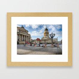 Berlin Gendarmenmarkt Color Framed Art Print