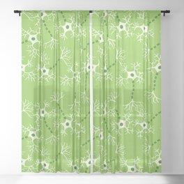 Green Neurons Sheer Curtain