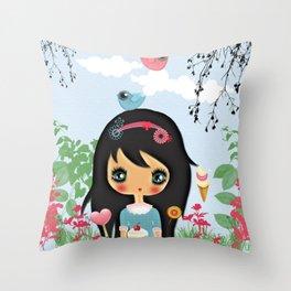 ppinkydolls art print Throw Pillow
