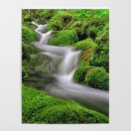 Flowing water Poster
