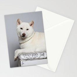 Cream Shiba Inu Dog Stationery Cards