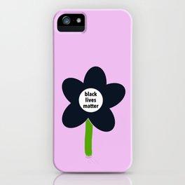 Black Lives Matter - BLM Flower img2 iPhone Case