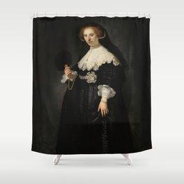 Oopjen Coppit - Rembrandt van Rijn (1634) Shower Curtain