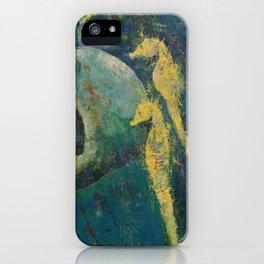 Yellow Seahorses iPhone Case