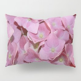 Pink Hydrangea Flowers Background Pillow Sham