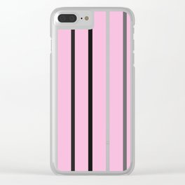 PINK MINIMAL STRIPES #black #white #stripes #minimal #art #design #kirovair #buyart #decor #home Clear iPhone Case