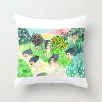 psychedelic Throw Pillows featuring Psychedelic by Risahhh