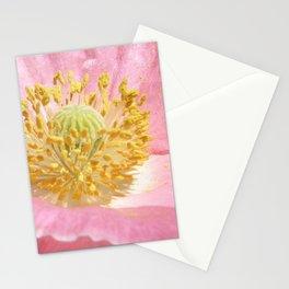 Pink Poppy Pollen Stationery Cards