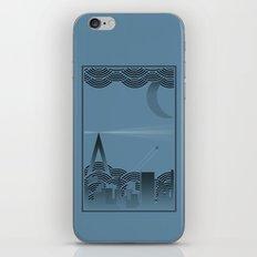 une nuit à paris (blue version) iPhone & iPod Skin