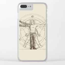 Vitruvian Alchemist Clear iPhone Case